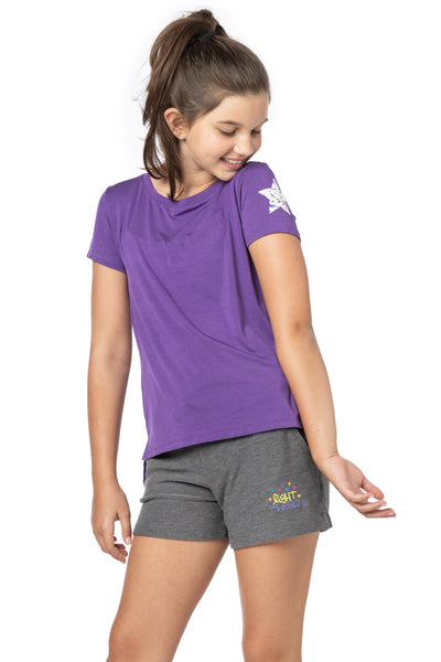 PIPER Purple Silky Tee