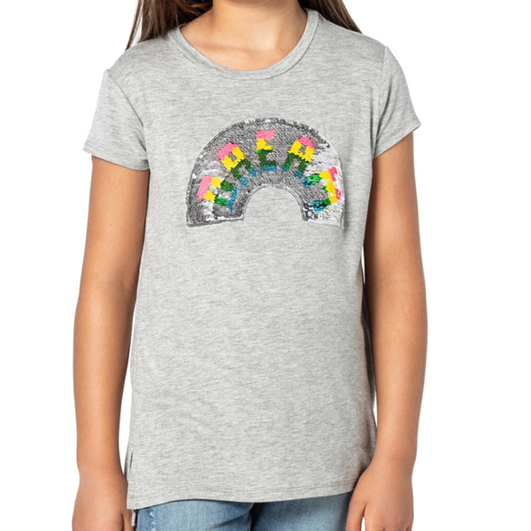 PIPER Rainbow Flip Sequin Top