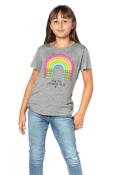 ELLIE T Wear Love Everywhere You Go - Short Sleeve top for girls and Tweens