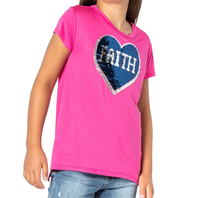 PIPER Flip Sequin Faith and Hope Heart