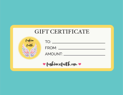 E-Gift Certificate - Fashion X Faith