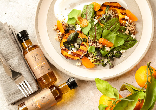Quinoa Butternut Squash Mangold Salad with Rapeseed Oil