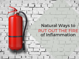 Fire extinguisher image to put out the fire of inflammation