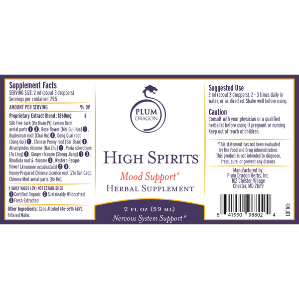 High Spirits - Mood Support Formula - New Product!!