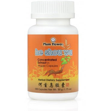 He Shou Wu Capsules (Plum Flower Brand) - Chinese Herbs for Longevity