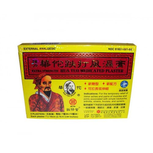 Hua Tuo Plaster (Extra Strength) - Natural Pain Relief - Plum Dragon Herbs