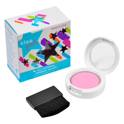 NEW!!!  Finger Lake Glows - Klee Girls All Natural Mineral Pressed Blush Compact