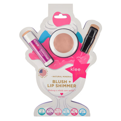 NEW!!! Pink Sugar Fluff - Klee Girls Natural Mineral Blush & Lip Shimmer Duo