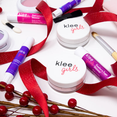 NEW! Holiday 2020 - Klee Girls Merry & Bright - Natural Mineral 7-Piece Makeup Set