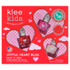 Joyful Heart Bliss - Klee Kids Water-Based Nail Polish 3-Piece Set