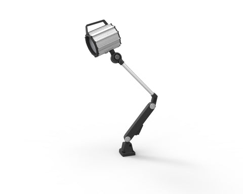 adjustable machinery light with gooseneck arm