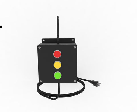 wireless stack light controller with lighted buttons