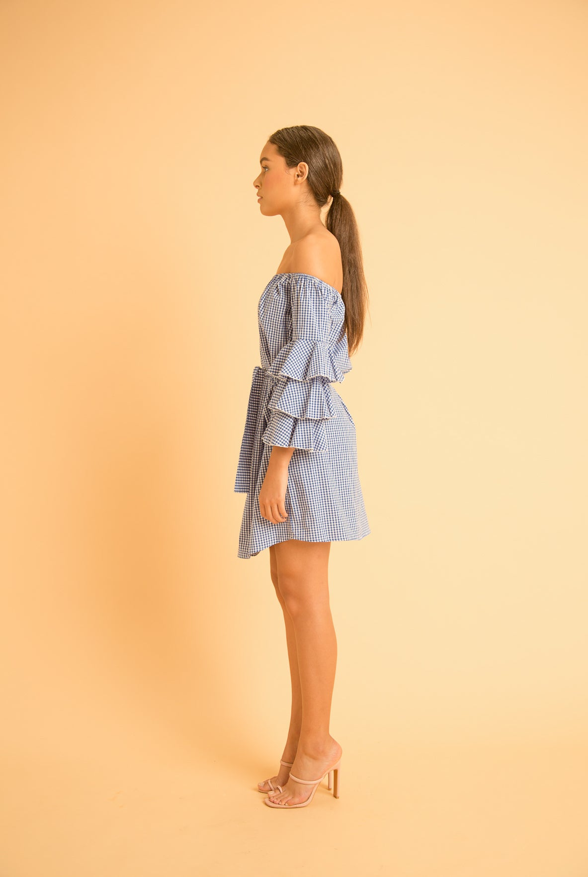 saint-mojavi - FLAMENCO GINGHAM DRESS - SAÏNT MOJAVÏ -