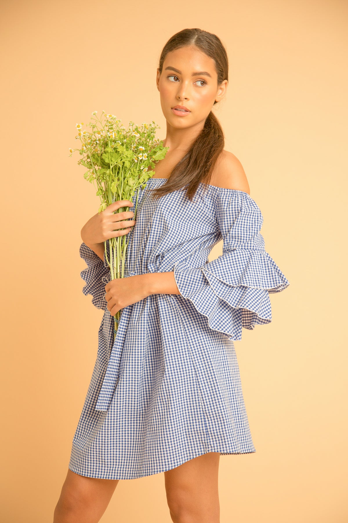 FLAMENCO GINGHAM DRESS