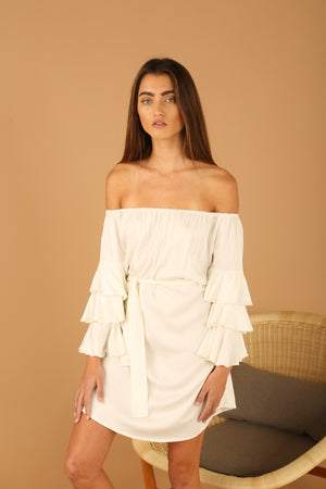 saint-mojavi - FLAMENCO RUFFLE DRESS - SAÏNT MOJAVÏ -
