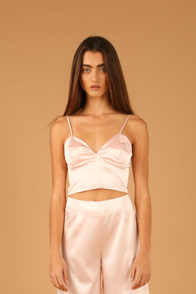 Tel Aviv Crop Top in Cameo Rose