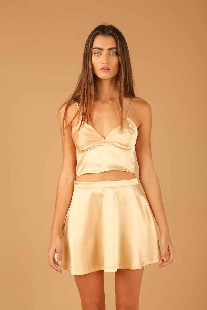 Tel Aviv Crop Top in Desert Sand