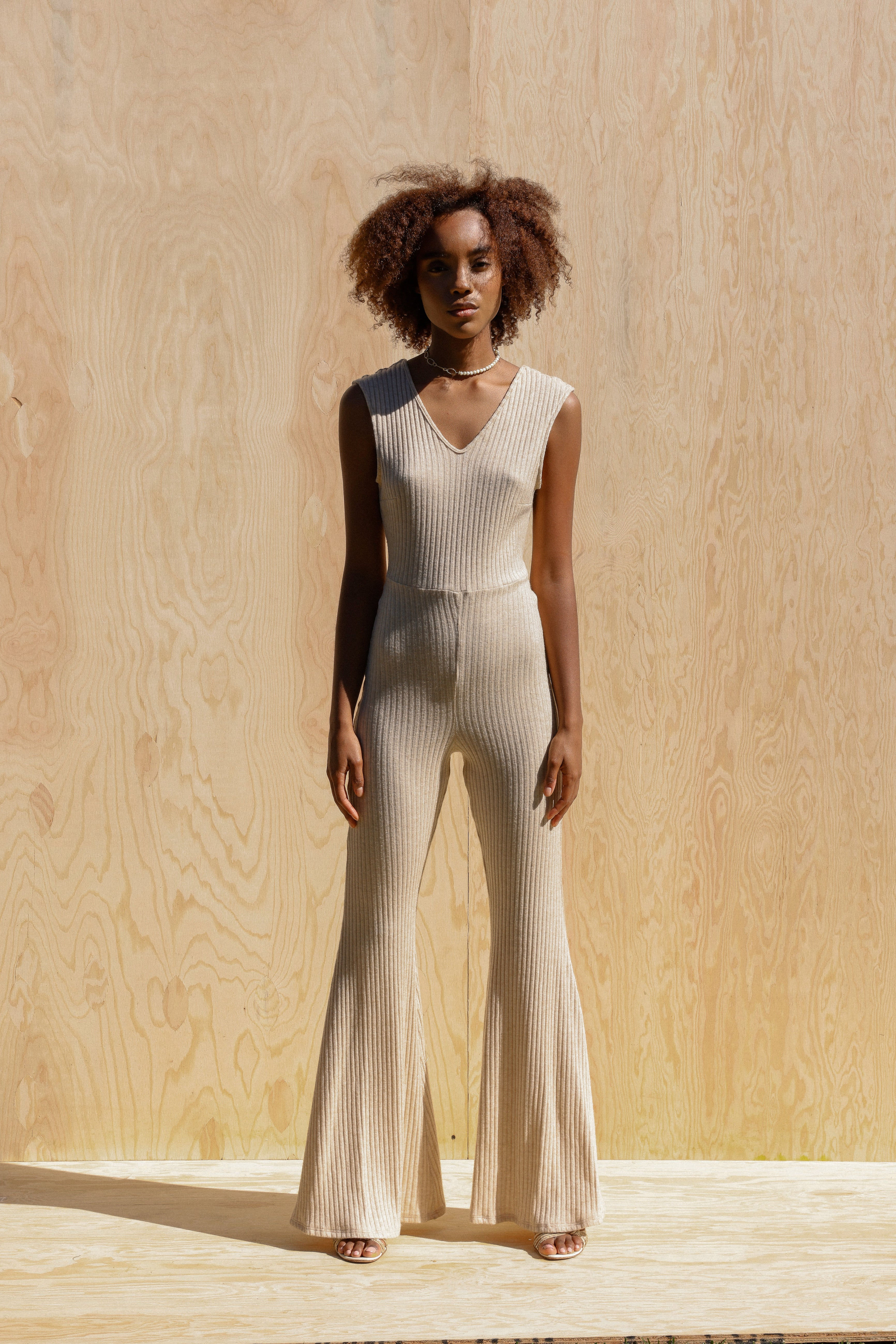 Ribbed Knit Jumpsuit