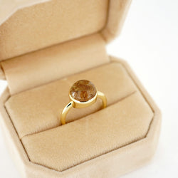 10mm Rutilated Quartz Ring