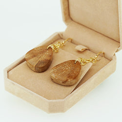18k Custom Wood Earrings