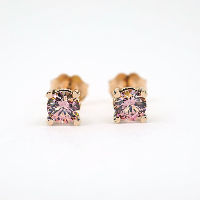 Hearts on Top Ear Studs