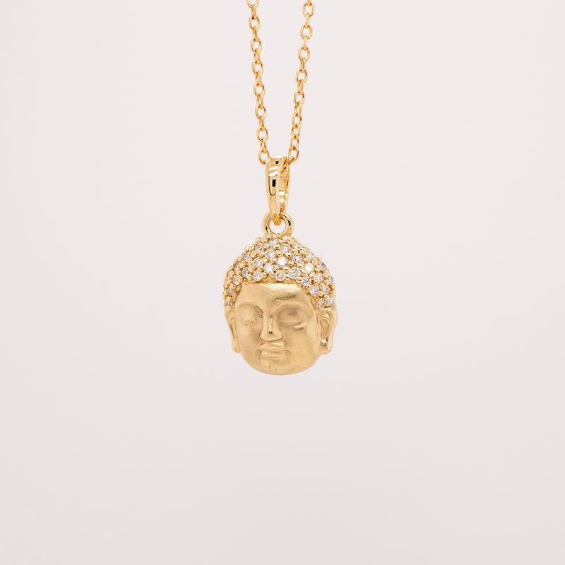 Diamond Buddha Necklace