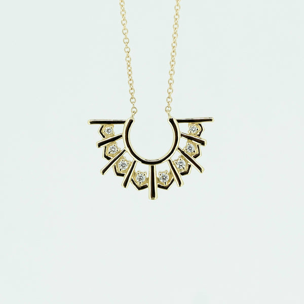 Diamond Fan Necklace