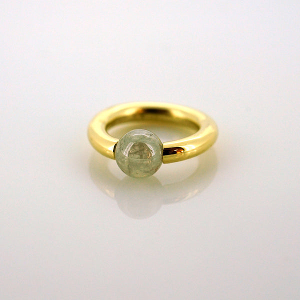 Diamond Pearl Captive Bead Ring