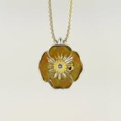 California Poppy Pendant