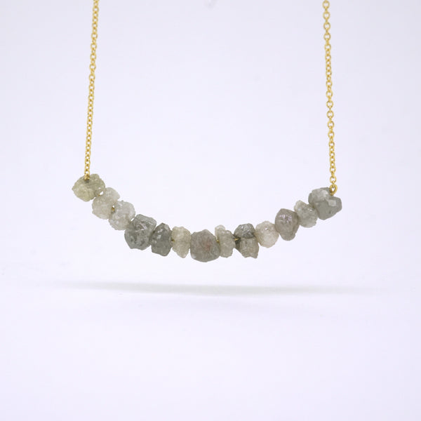 Moon Rock Diamond Necklace