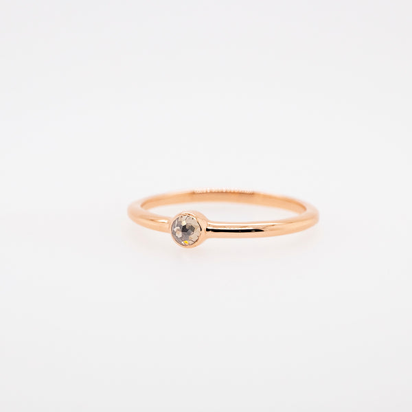Rose Cut Grey Diamond Stackable Ring #4