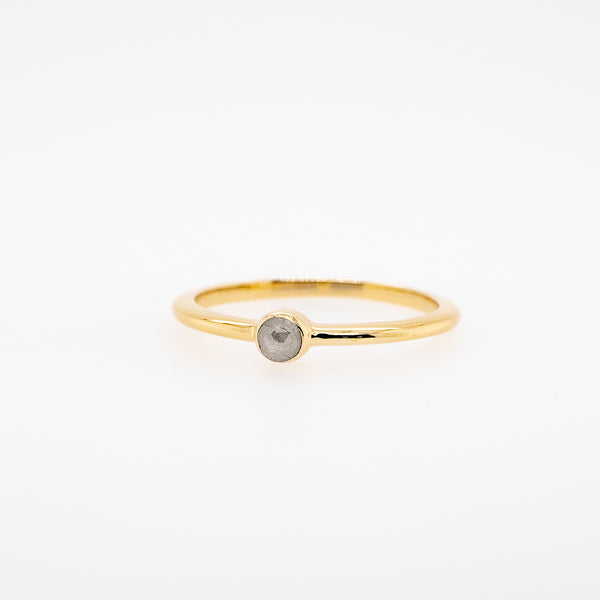 Rose Cut Grey Diamond Stackable Ring #3