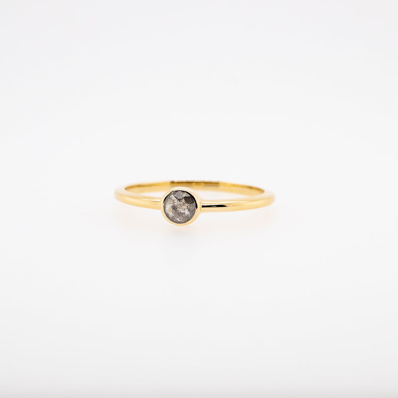 Rose Cut Grey Diamond Stackable Ring #2
