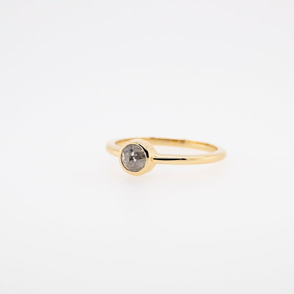 Rose Cut Grey Diamond Stackable Ring #1