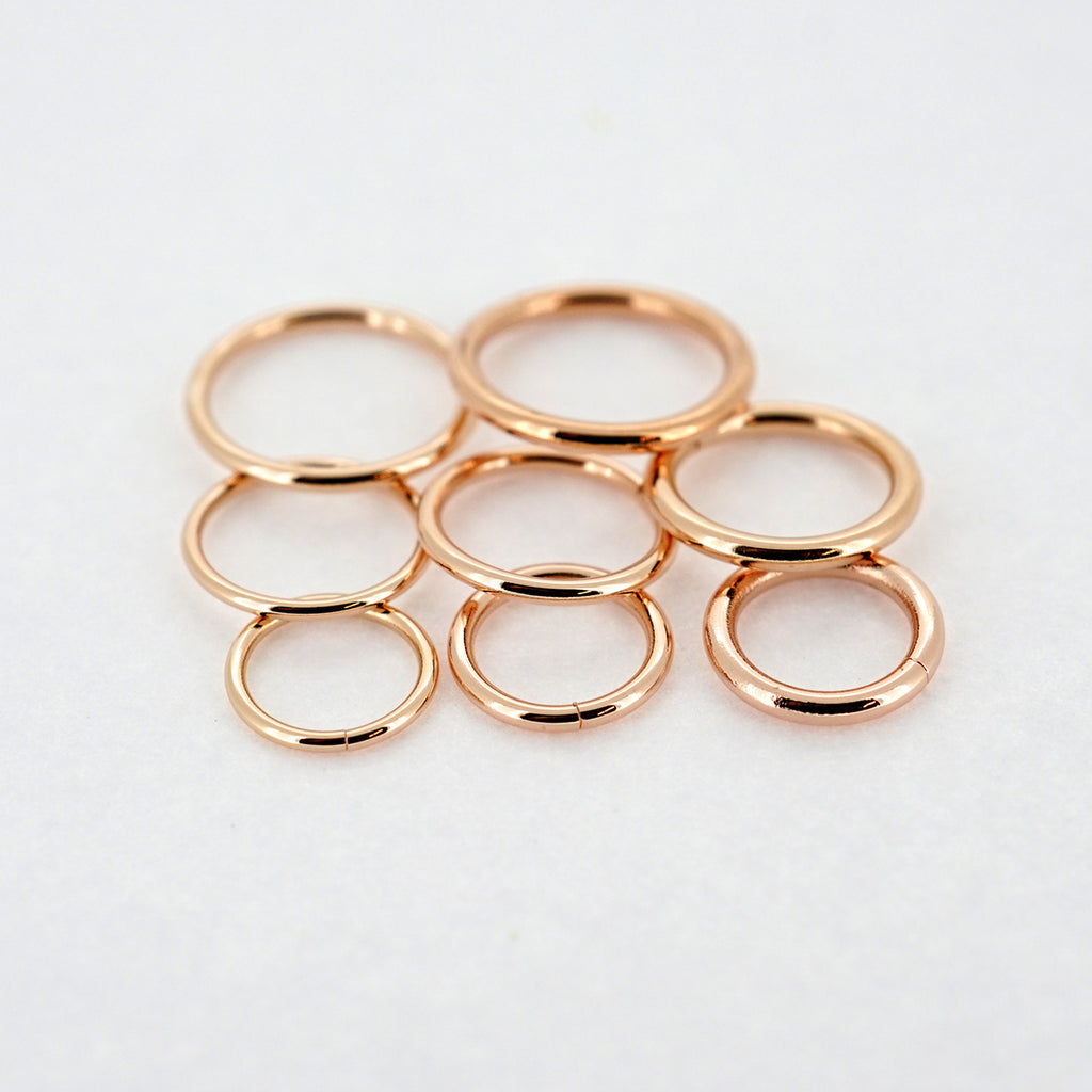 18k Rose Gold Seamless Ring