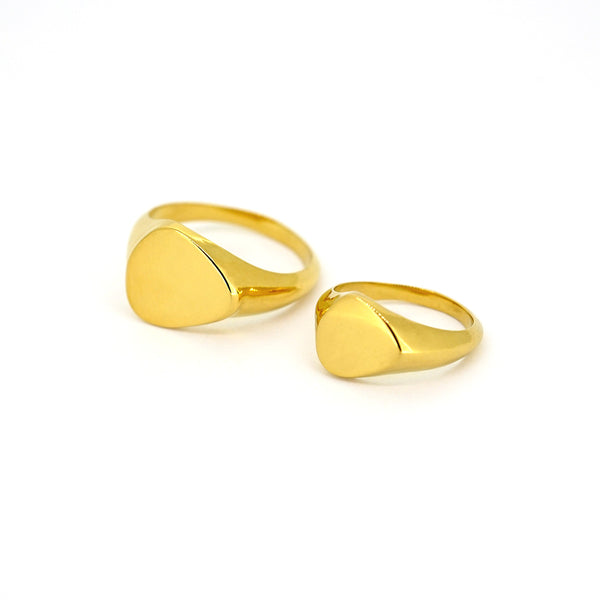 Goldfinger Signet Rings - Pair