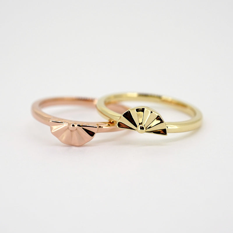 Half Flower Stackable Ring
