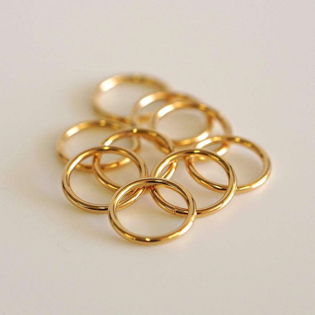 22k Peach Gold Seamless Ring