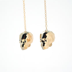 Swarovski Skull Gem Earrings