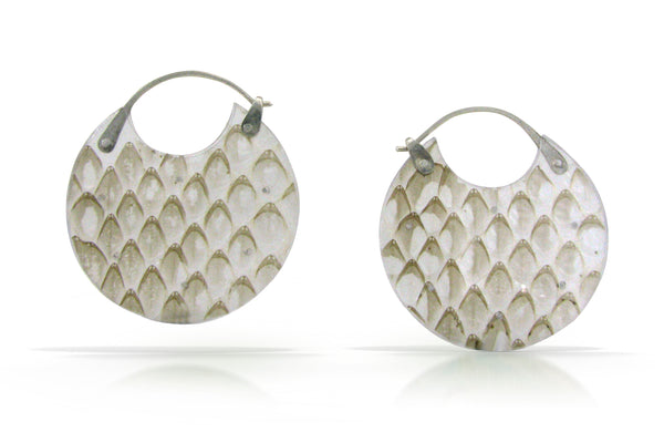 Snakeskin Encasement Earrings