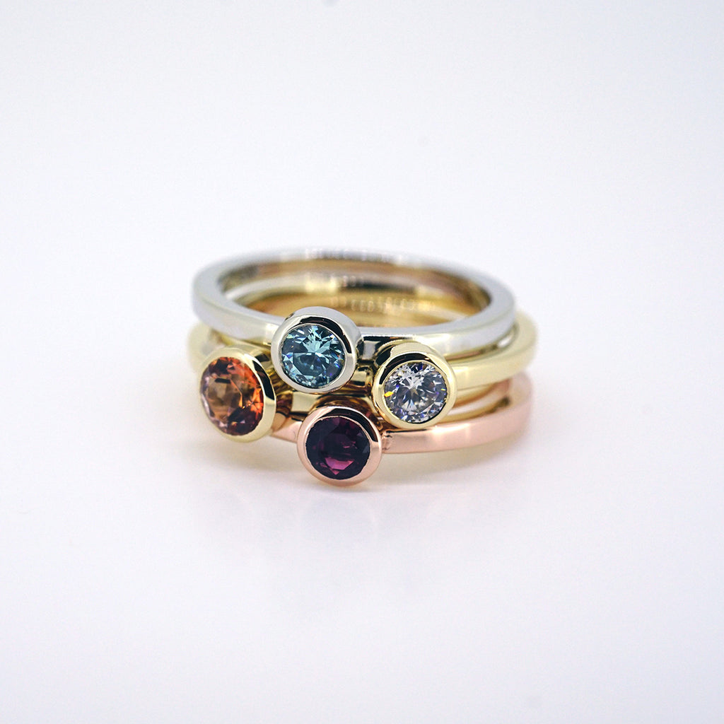 Stackable Bezel Ring