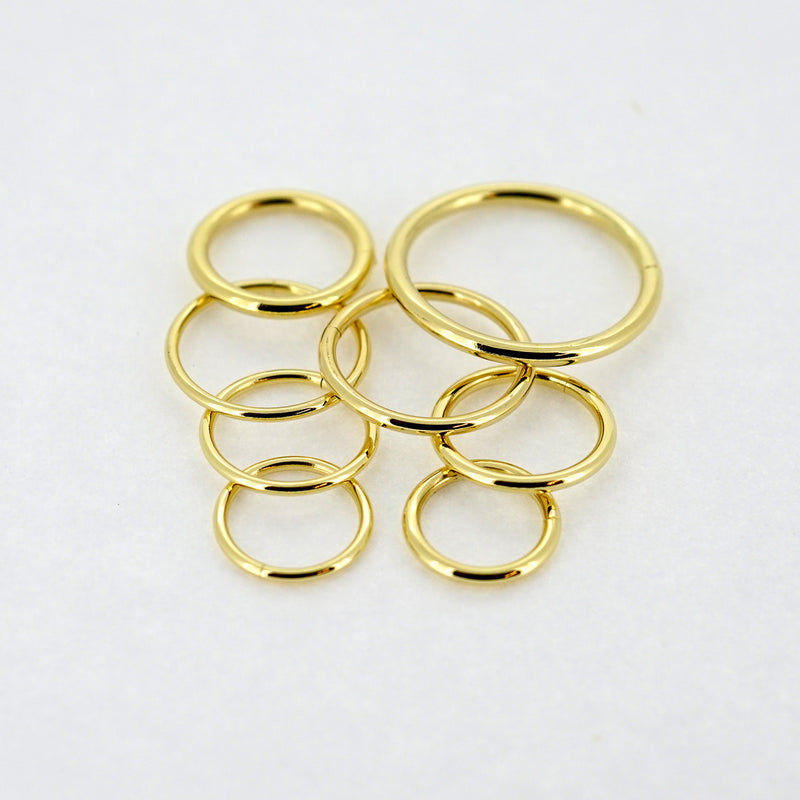 18k Yellow Gold Seamless Ring
