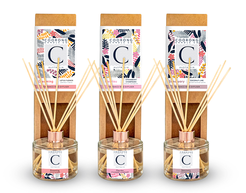 Natural Reed Diffusers by Coorong Candle Co