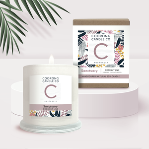 'Sanctuary' Coconut Lime 350gm Soy Candle