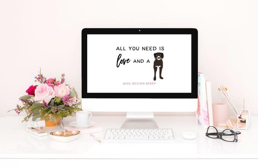 Freebie Download: Pet Love Wallpapers