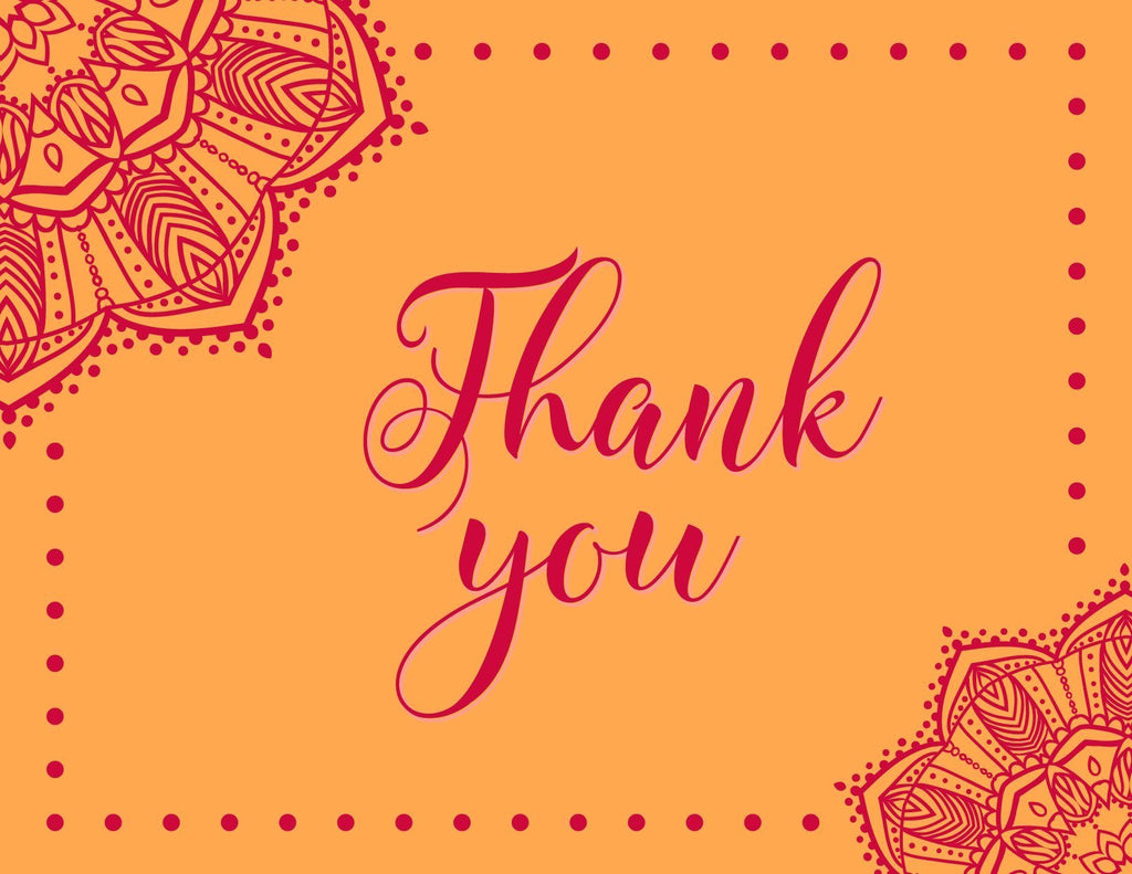 Free Printable: Indian Wedding Inspired Thank You Cards