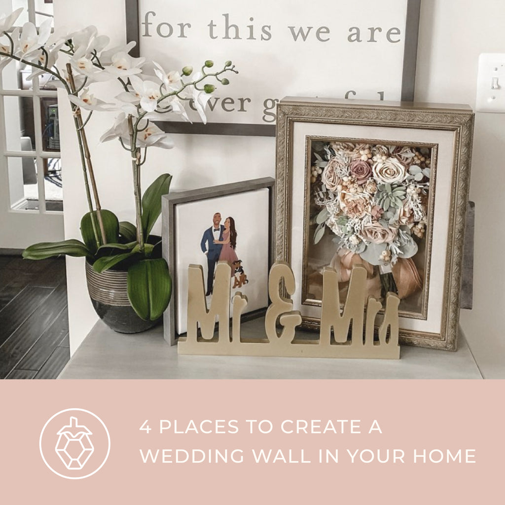 4 Places to Create a Wedding Wall in Your Home