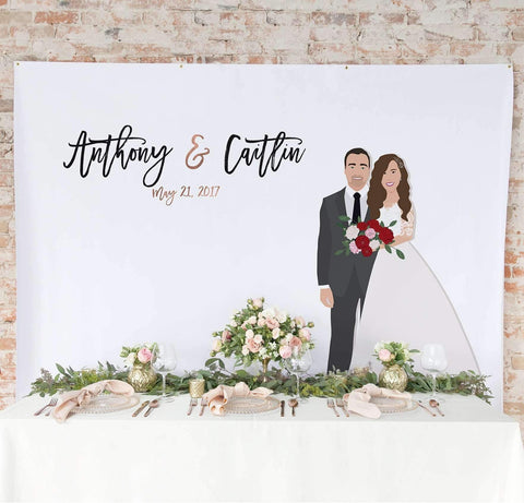 Miss Design Berry Backdrop Couple Portrait Backdrop Curtain - The Penny