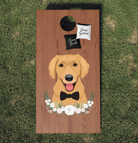 Miss Design Berry cornhole board Wedding Cornhole Board Set with Pet Portrait