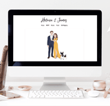 Miss Design Berry Custom Portrait Art for Wedding Website